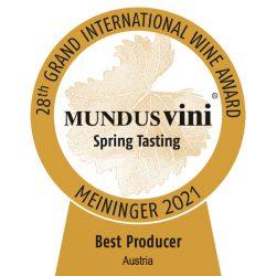 """Best Producer Austria"" bei Mundus Vini 2021"